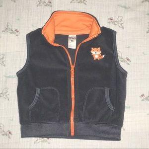 Fleece vest with cute fox detail